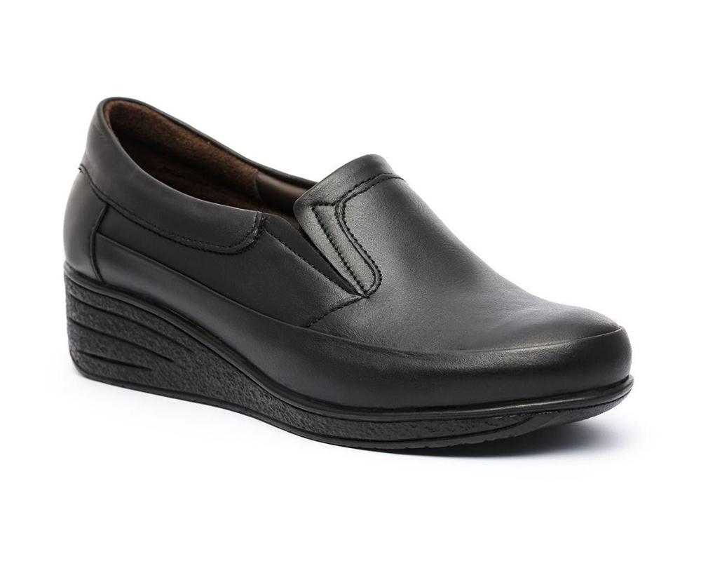 کفش چرم زنانه کد 600